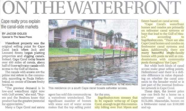 SageRealtor.com Waterfront Expert - Cape Coral - News-Press