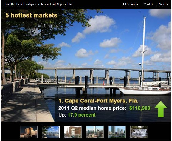 Cape Coral - Fort Myers Rated #1 by Bankrate
